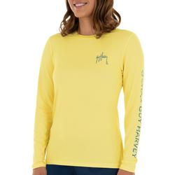 Womens Solid Logo Long Sleeve Top