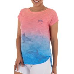 Womens Ombre Dolphin Short Sleeve