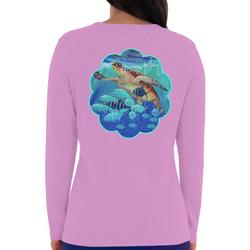 Womens Solid Long Sleeve With Screenprint
