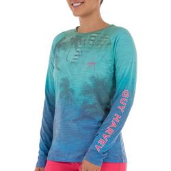 Womens Ombre Palm Tree Print and Logo