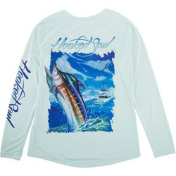Hooked Soul Womens Boating With Marlins Long Sleeve Top