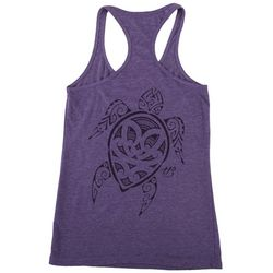HOOKED SOUL Womens Racerback Sea Turtle Tank Top