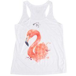 Reel Skinz Flamingo Screen Printed Sleevless Tank Top