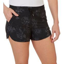Kyodan Womens Dark Floral Drawstring Shorts