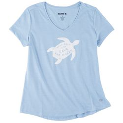 Reel Legends Womens Keep Calm & Save the Ocean T-Shirt