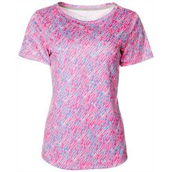 Womens Freeline Graphic Print Shimmer Top