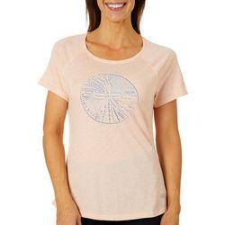 Reel Legends Womens Sand Dollar Graphic T-Shirt