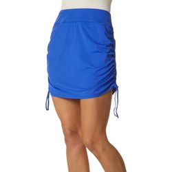 Womens Keep It Cool Leaf Ruched Skirt