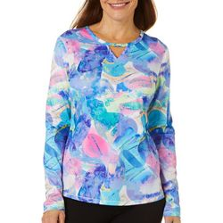 Reel Legends Womens Freeline Rainbow Rocks Long Sleeve Top