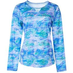 Reel Legends Womens Freeline Water Reflection Shimmer Top