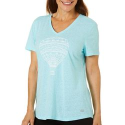 Reel Legends Womens Fly Away Graphic Print T-Shirt