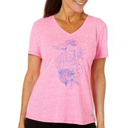 Reel Legends Womens Sketched Mermaid T-Shirt