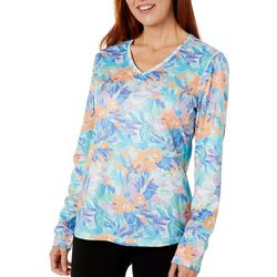 Reel Legends Womens Freeline Moving Floral Shimmer Top