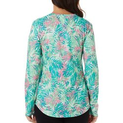 Womens Freeline Falling Fronds Shimmer Top