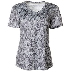 Reel Legends Womens Freeline Graphic Shimmer Top