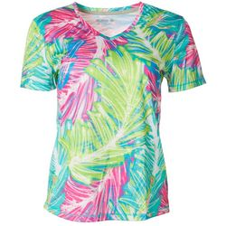 Reel Legends Womens Freeline Atlantis Palm Shimmer Top