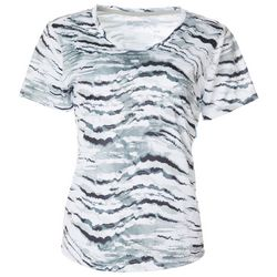 Womens Freeline Ink Waves Scoop Neck Top