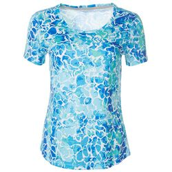 Reel Legends Womens Freeline Water Reflection Scoop Neck Top