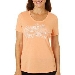 Reel Legends Womens Reel Tropical Floral Print T-Shirt