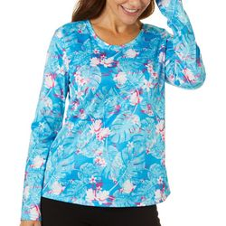 Reel Legends Womens Freeline Tropic Vibrations Shimmer Top