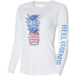 Reel Legends Womens Keep It Cool Patriotic Pineapple Top