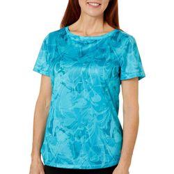 Womens Freeline Marble Splash Shimmer Top