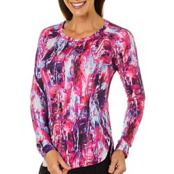 Reel Legends Womens Keep It Cool Graphic Flash Tunic Top