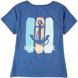 Southern Lure Womens Screen Print Anchored T-Shirt
