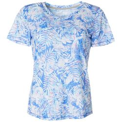 Reel Legends Womens Graphic Tropics Burnout Top