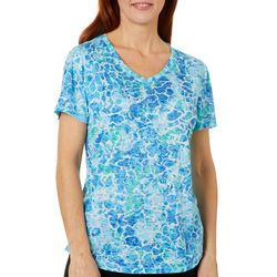 Reel Legends Womens Underwater Reflection Burnout Top