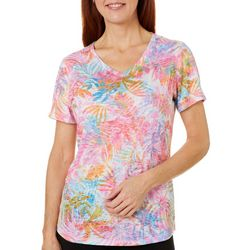 Reel Legends Womens Airy Palms Burnout Top