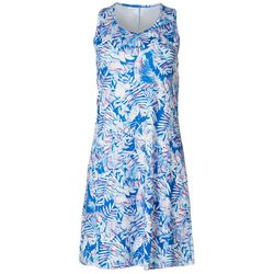 Reel Legends Womens Keep It Cool Tropical Movement Dress