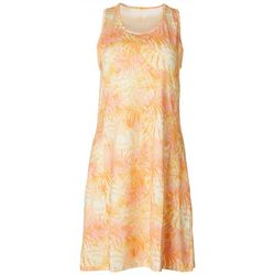 Reel Legends Womens Keep It Cool Peach Palms Movement Dress
