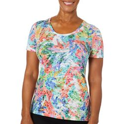 Reel Legends Womens Colorful Palm T-Shirt