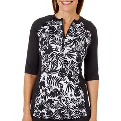 Reel Legends Womens Keep It Cool Endless Jungle Swim Top