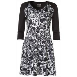Womens Keep It Cool Palm Print Raglan Dress