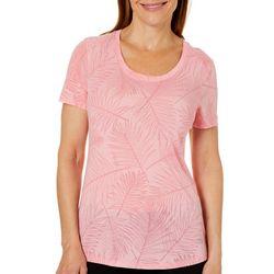 Reel Legends Womens Reel Fresh Palm Burnout T-Shirt