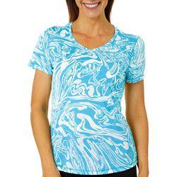Reel Legends Womens Mineral Swirl Burnout T-Shirt