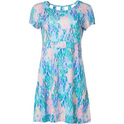 Reel Legends Womens Keep It Cool Rain Print Dress