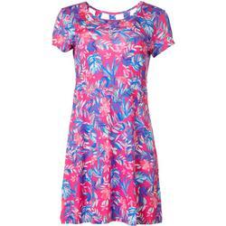 Womens Keep It Cool Shimmer Palm Dress