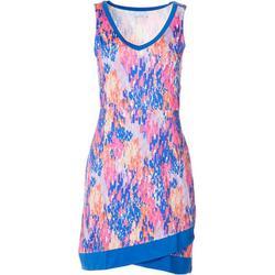 Womens Keep It Cool Rain Print Wrap Hem Dress