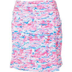 Womens Keep It Cool Abstract Print Skort