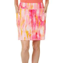 Reel Legends Womens Keep It Cool Geo Painted Stripe Skort