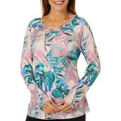 Reel Legends Womens Elite Comfort Watercolor Palms Top