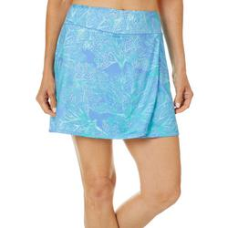 Womens Keep It Cool Coral Puzzle Skort