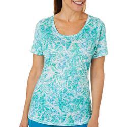 Womens Soft Spiral Burnout T-Shirt