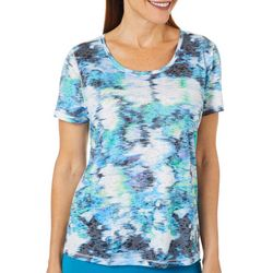 Reel Legends Womens Hyper Lines Burnout T-Shirt