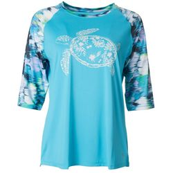 Reel Legends Womens Keep It Cool Sea Turtle Top