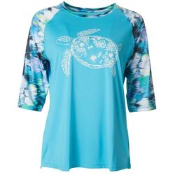 Womens Keep It Cool Sea Turtle Top