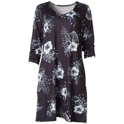 Reel Legends Womens Keep It Cool Floral V-Neck Dress